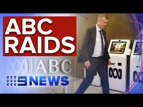 Federal Police Raiding ABC Headquarters In Sydney | Nine News Australia
