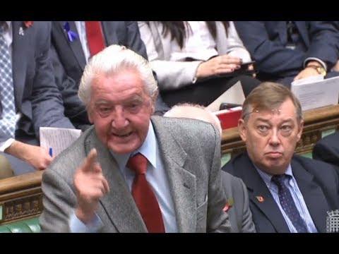 PMQs: Dennis Skinner vs Theresa May - Wednesday 1st November