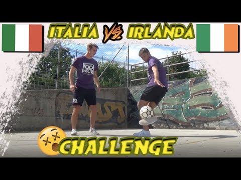 CAMPIONE ITALIANO VS IRLANDESE Calcio Freestyle Challenge  || FOOTWORK Italia