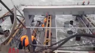 КРЫМСКИЙ МОСТ ШТОРМ НА  ОПОРЕ