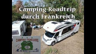"""Mit WOHNMOBIL und WOHNWAGEN durch Frankreich: Campingplatz """"Camping DeNeuvre"""" au bord de l´Allier"""