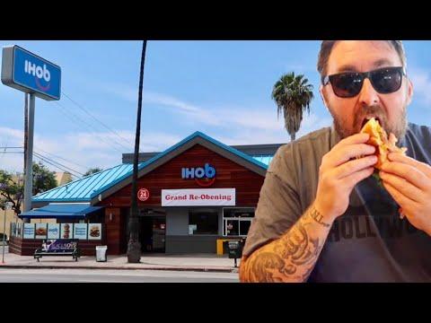 IHOb - International House Of Burgers / IHOP Restaurant Name Change & Store Overlay / Food Review