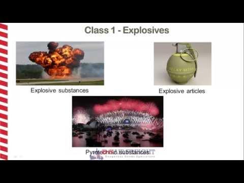 Dangerous Goods Class 1 - Explosives