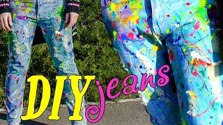 DIY jeans\ делаем джинсы в краске