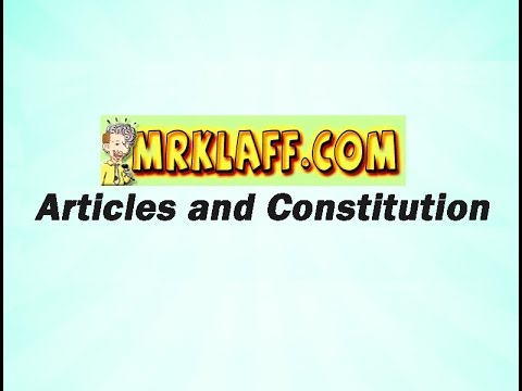 Articles of Confederation and Constitution Review Lesson - Mr. Klaff