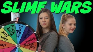 MYSTERY WHEEL OF SLIME || SLIME WARS || Taylor and Vanessa