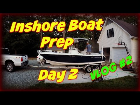 Inshore Fishing Trip: Boat Prep~Day 2~VLOG #2