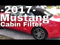 2017 Ford MUSTANG Interior/Cabin Air filter Change--How to