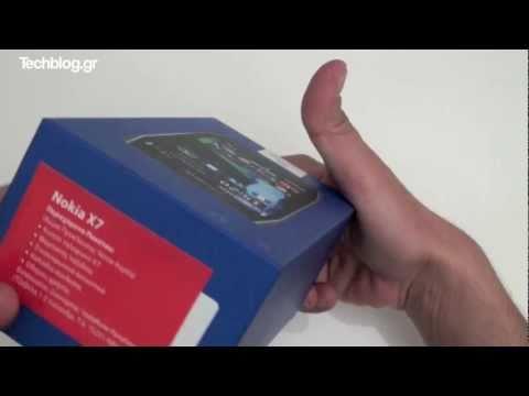 Nokia X7 unboxing (Greek)