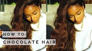 How to: Chocolate Brown Hair Tutorial- no bleach| Ali Julia Virgin Hair