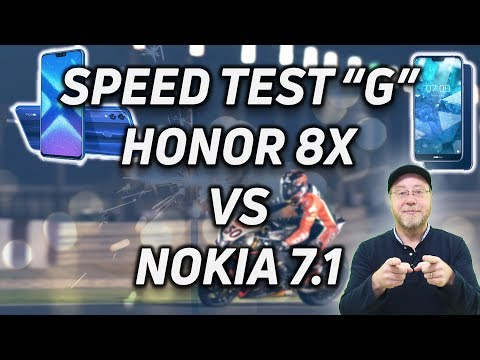Speed Test G: Honor 8X vs Nokia 7.1