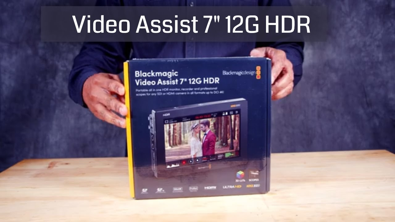 Blackmagic Video Assist 7 12g Hdr Unboxing Setup With Bmpcc 6k Youtube