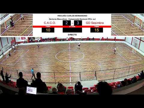 CACO TV DIRETO 2020-01-07 / SENIORES MASCULINOS / CACO 2 - 3 GD Sesimbra
