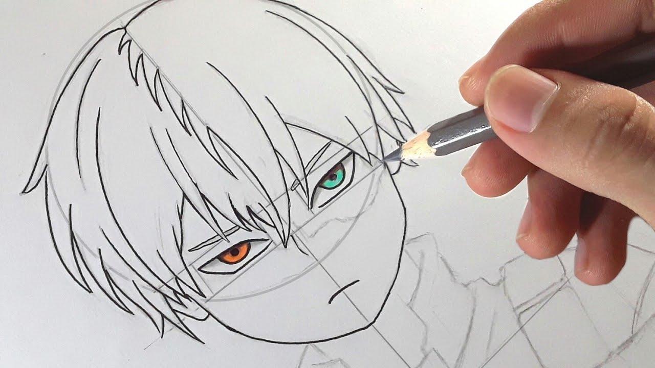 Cara Menggambar Anime Todoroki Shouto Boku No Hero Academia How To Draw Anime Youtube