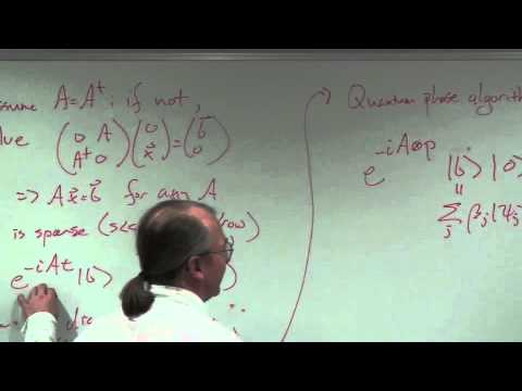 Quantum algorithm for solving linear equations