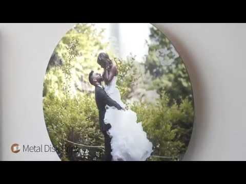 Metal Disk Print - Brushed Aluminum Circular cut