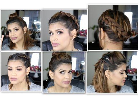 5 quick Hair Styles for Short Hair |Medium Length hair