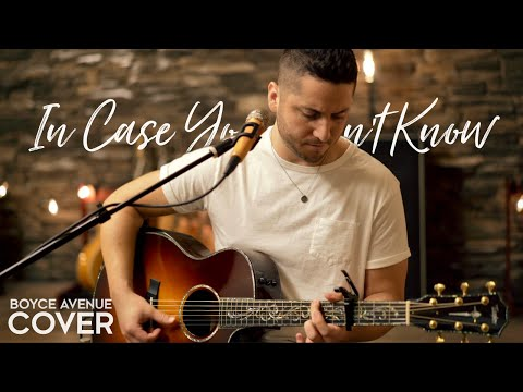 In Case You Didnt Know  Brett Young Boyce Avenue acoustic  on  & iTunes