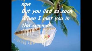 Repeat youtube video Calvin Harris - Summer (Lyrics)