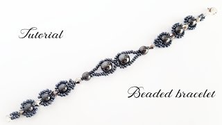 #МК - Браслет из бисера и гематита | Bead bracelet and hematite