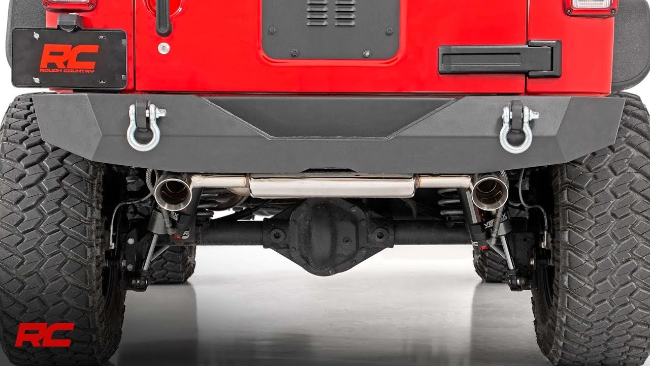 installing jeep dual outlet performance exhaust 07 18 jk wrangler