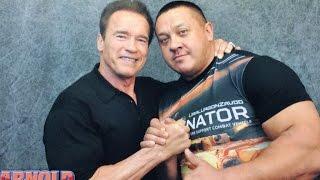 Миша и Арни [Mikhail Koklyaev & Arnold Schwarzenegger on Arnold Classic 2015]