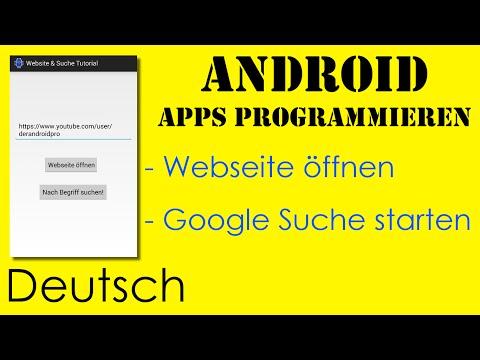Website öffnen & Google Suche Starten - Android Apps Programmieren [Deutsch / German]