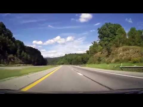 Driving along The Entire Length of the West Virginia Turnpike I77