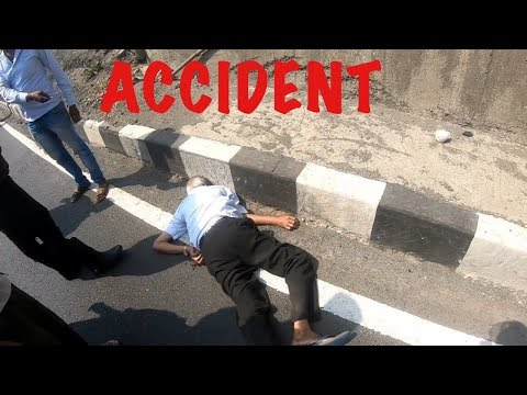 ROAD RAGE INDIA | Old man and Harley Davidson dangerous brutal bike accident spotted and we helped