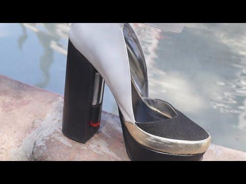 tacones con gas pimienta: accesorio para frenar la violencia contra las mujeres