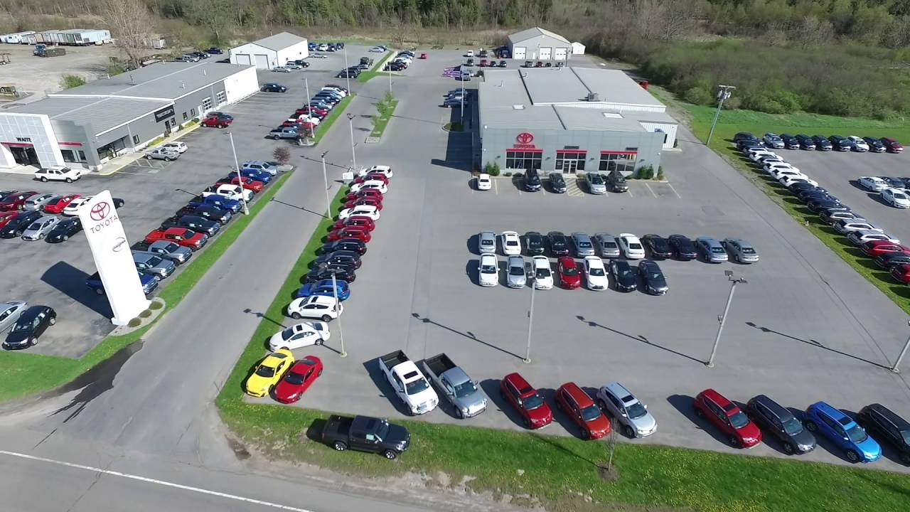 Fly Over Of Toyota Dealer :: Watertown NY | Waite Toyota