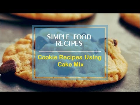 Cookie Recipes Using Cake Mix
