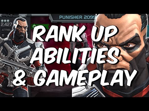 Punisher 2099 Rank Up, Abilities Overview & Gameplay - Marvel Contest of Champions