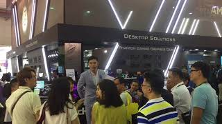 [主持側拍] 2018 國電展 - intel 產品宣傳 - Spencer Chang