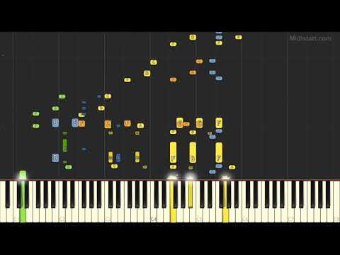 Christmas Songs - Santa Claus Is Coming to Town (Instrumental Tutorial + Lyrics) [Synthesia]