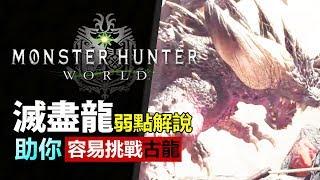 [ MHW 滅盡龍 ] 魔物介紹 古龍攻略 -  滅盡龍篇: 弱點解說 攻擊模式 【Monster Hunter: World  魔物獵人世界 | PS4 PC 中文 Gameplay 】