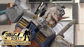 ガンダムベース東京のガンプラビルダーズワールドカップ(ジュニアコース)作品展示写真・映像 #7(使用キット:1/48 メガサイズモデル RX-78-2 ガンダム ガンプラワールドカップ 検索動画 25