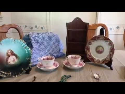 Estate/Garage Sale Finds Video #36:  Jewelry, Linens, China