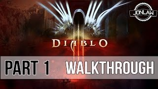 Diablo 3 Walkthrough - Part 1 Intro - Master Difficulty Gameplay & Commentary [NG+] (PC)