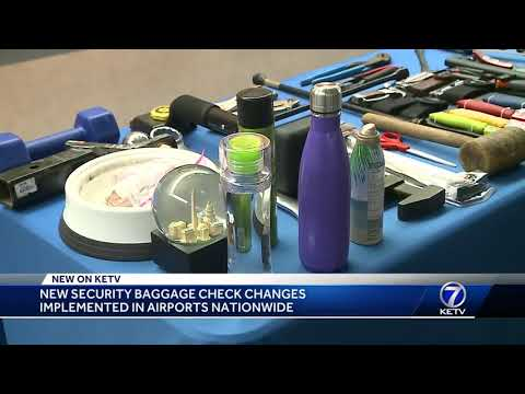 New security baggage check changes implemented in airports nationwide