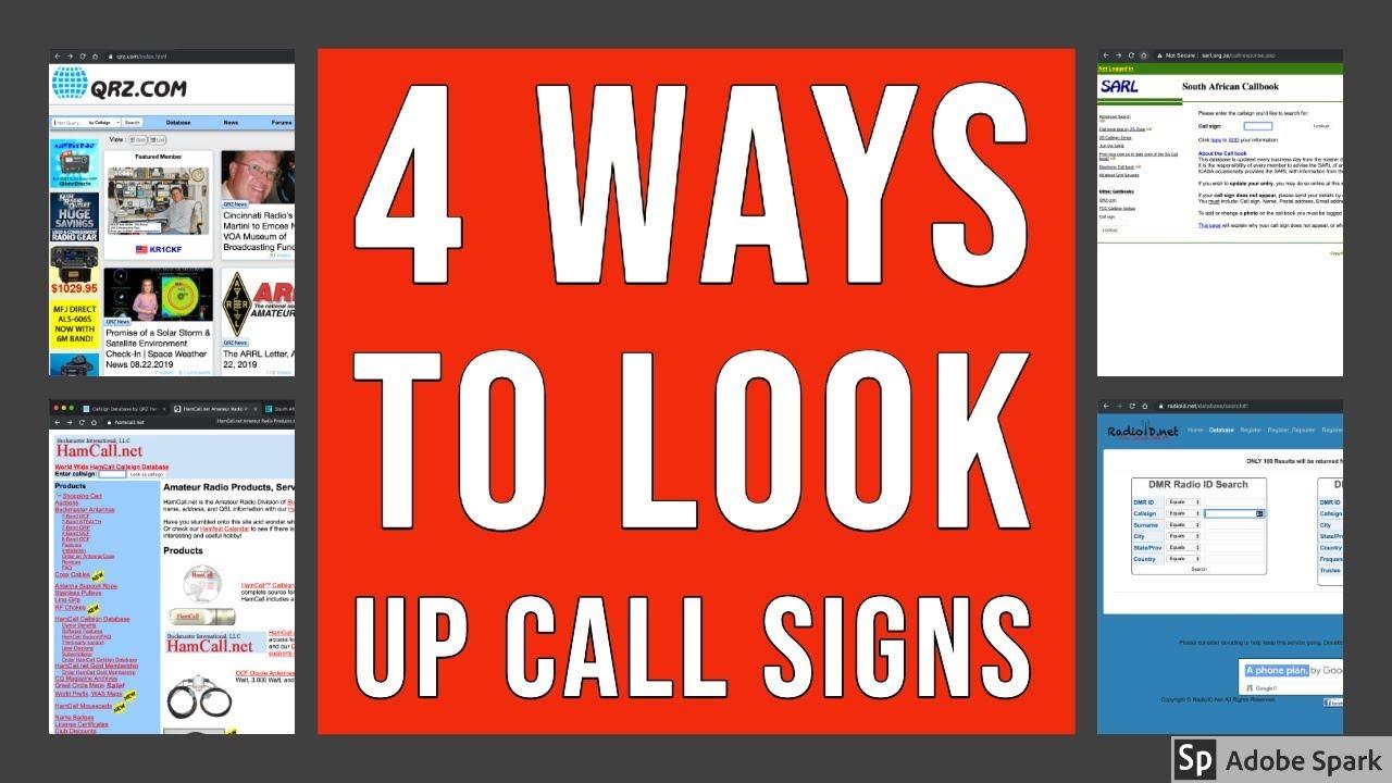 Amateur radio callsign lookup