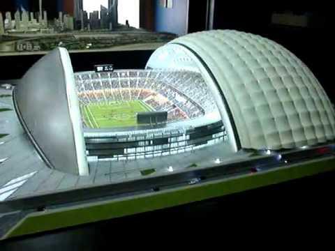 Open Roof stadium model
