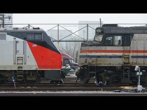 Amtrak action around the Chicago yard and Union Station on 3/10/15