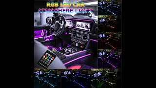 Car LED Strip Light - Music RGB Neon Strip Lights - Interior Decor Atmosphere Strip Lamp