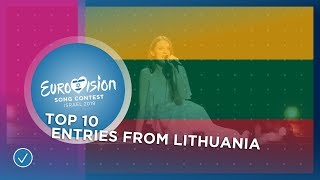 TOP 10: Entries from Lithuania 🇱🇹 - Eurovision Song Contest