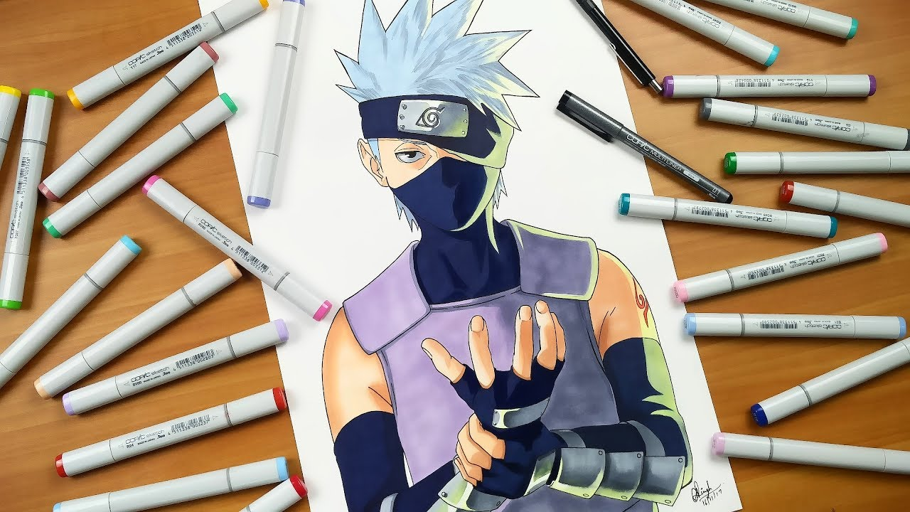 Drawing Kakashi ANBU - Naruto shippuden - YouTube