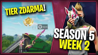 WHERE is the SECOND FREE TIER FOR SEASON 5 (Week 2)-Fortnite Battle Royale CZ/SK | Lego007las