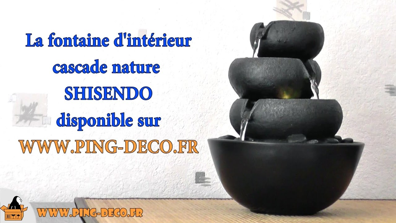 Fontaine d 39 int rieur nature jarre shisendo www ping deco for Fontaine interieur