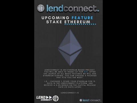 LendConnect HUGE NEWS UPDATE | ETHEREUM STAKING ADDED TO LENDING PLATFORM