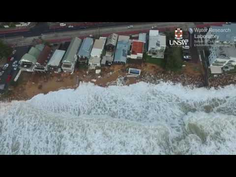Drone footage of severe coastal erosion on Sydney's Northern Beaches